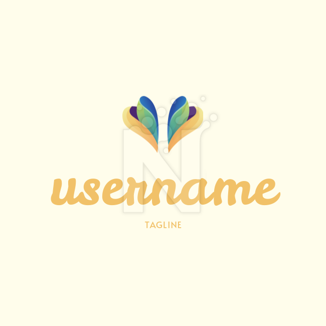 Check out my new potential Logo! What do you think? on colored background