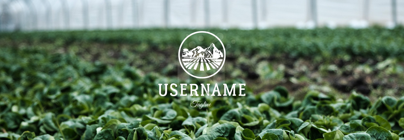 Vintage nature farmer farm mountain environment field Agriculture & Outdoors Logo by Dmitry Savin on background photo