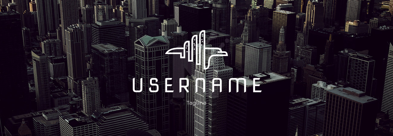 Check out my new potential Logo! What do you think? on background photo